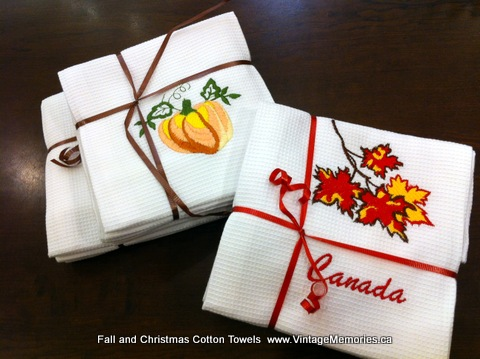 Fall and Christmas Cotton Towels gift set