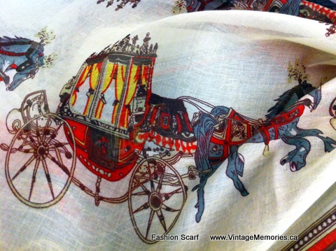 Large Fashion Horse Carriage Scarf