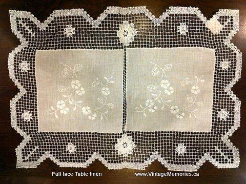 Full lace table linen