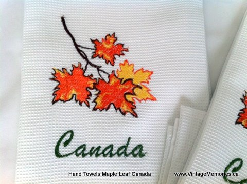 Hand Towels Maple leaf Canada-
