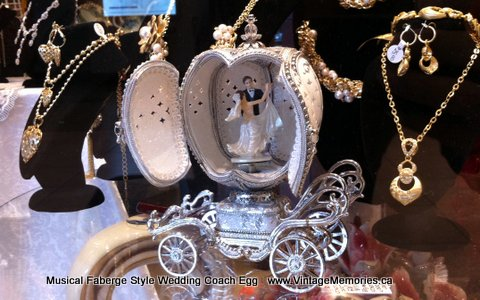 Musical Faberge Style Wedding Coach Egg