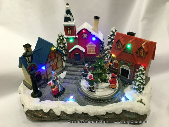 Musical LED Christmas Village