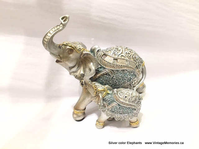 Silver color Elephants