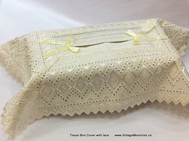 Tissue Box Cover with lace