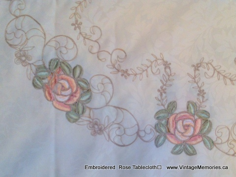 EMB Rose Table Cloth