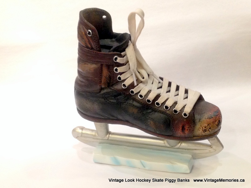 Vintage Hockey Skate Piggy Bank