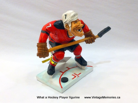 What a Hockey Player figurine