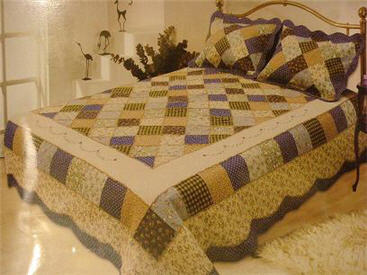 cotton quilt and sham