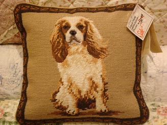 dog needle point pillow-1