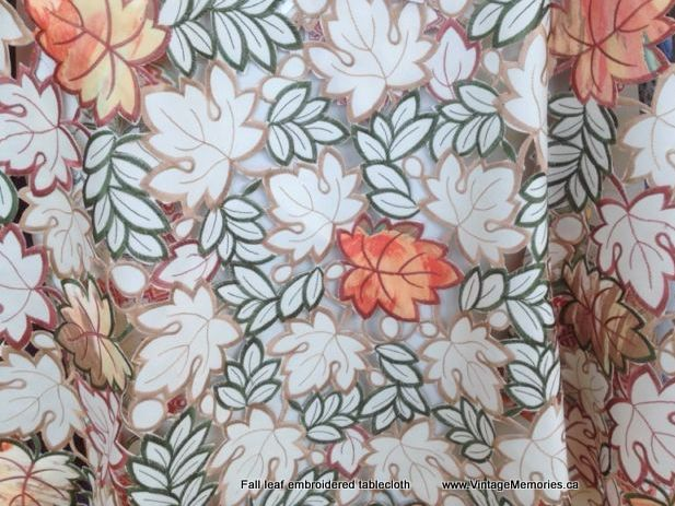 Fall leaf EMB tablecloth