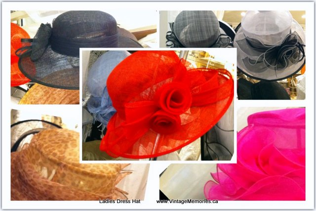 ladies dress hats