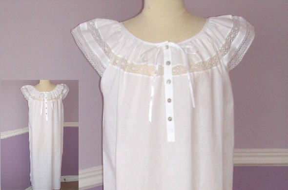 f4f9dbce82 Vintage   Memories - Cotton Nightgown   Housecoat