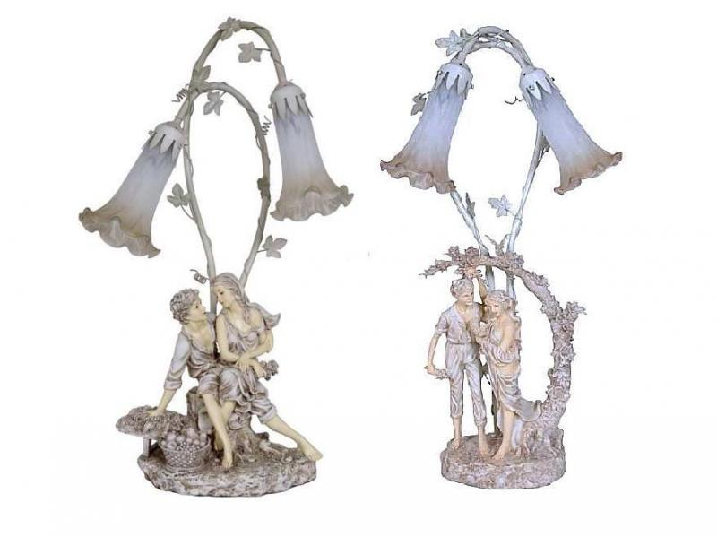 Victorian Figurine table lamps at Vintage & Memories